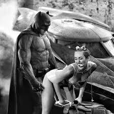 Miley Cyrus Twerk Meme - sad batman miley cyrus twerk by anthropoceneman meme center