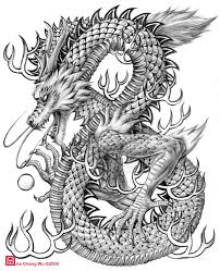 how to draw a chinese dragon head easy pencil drawing collection