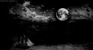 black and white moon gif wifflegif