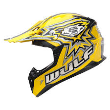 motocross helmets with visor wulf cub flite xtra yellow motocross helmet u0026 visor crash