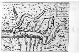 Maryland On A Map Early Settlers Charts And Maps
