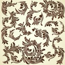 ornament designs collection vector free