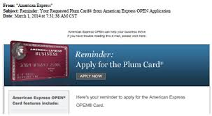 American Express Business Card Application Rethinking An Amex Marketing Campaign For The Plum Card