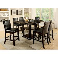 Dining Tables   Piece Counter Height Dining Table Set Patio - 7 piece dining room set counter height