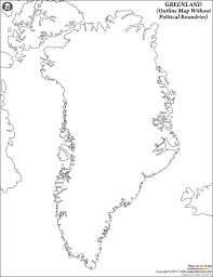 Blank Map Of Asia Quiz by Blank Map Of Greenland Greenland Outline Map