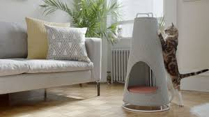 Modern Cat Bed Furniture by This Cone Shaped Object Is Both A Scratching Post And A Cat Bed