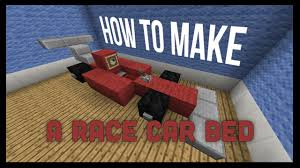 how to make a bed in minecraft how to make a race car bed in minecraft that works youtube