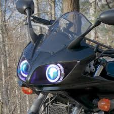 kt headlight for yamaha fz1 fz1s 2006 2015 led angel eye green