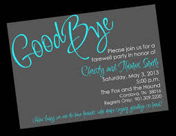 farewell party invitation free printable invitation templates going away party pinteres
