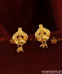 er292 trendy leaf design small south indian imitation ear