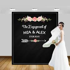 wedding backdrop personalized personalized wedding chalkboard photo booth backdrop