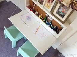 children s desk with storage wall mounted secretary desk or murphy desk