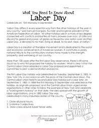 what kids need to know about labor day other than not to show up