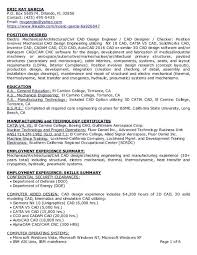 Sample Resume For Mechanical Engineer Experienced by Download Cad Design Engineer Sample Resume Haadyaooverbayresort Com
