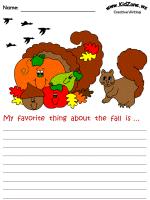 autumn creative writing prompts