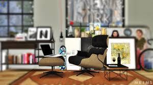 eames lounge chair conversion by mxims teh sims
