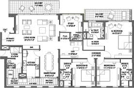 Dlf New Town Heights Floor Plan 1476470564panorama Suites Floor Plan Floor Plan 3bhk 3747 Sqft Jpeg