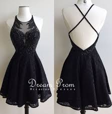 stylish dress stylish black lace beading prom dress homecoming dresses