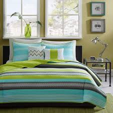 Teal Blue And Lime Green Bedspreads Amazon Com Reversible Modern Teal Lime Green Grey Coverlet