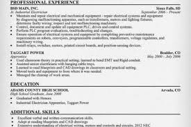 Electrician Resumes Samples by Lineman Resume Template Reentrycorps