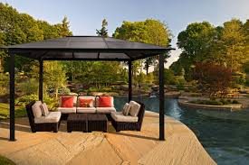 patio gazebo lowes exterior comfortable living space in your garden with hardtop