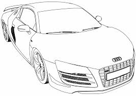 audi r8 gt car coloring page wecoloringpage