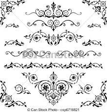 Decorative Line Clip Art Lines Clipart Design Element Pencil And In Color Lines Clipart
