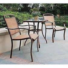Motion Patio Chairs Clayton Court 3 Piece Motion Outdoor Bistro Set Red Seats 2 Ebay