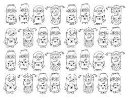 free coloring page coloring very numerous minions very numerous