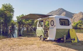 volkswagen minibus interior compact happier camper is a cute trailer inspired by vw minibus