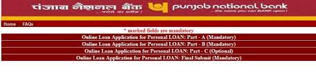 punjab national bank personal loan apply online how much money