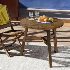 Driftwood Kitchen Table Jardine Bistro Table Driftwood West Elm
