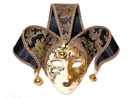 venetian mask venetian mask on medium basket of chocolates panache
