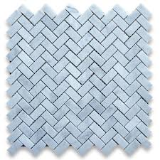 carrara white italian carrera marble herringbone mosaic tile 5 8 x