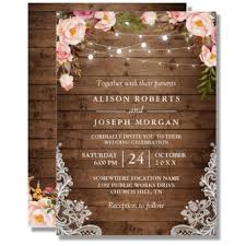 floral wedding invitations rustic string lights lace floral wedding invitation budget