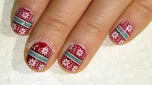 christmas sweater nails winstonia stamping nail art tutorial