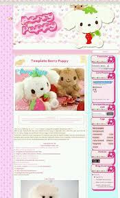 templates blogger personalizados template berry puppy blogger by kawaiiprincess2 on deviantart