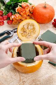 how to make a floral centerpiece inside a pumpkin ruby lane blog
