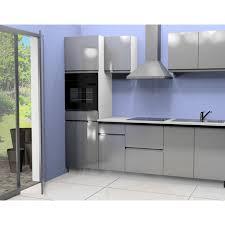 cuisine équipé cuisine équipée 2 l255 cm coloris gris pas cher à prix auchan