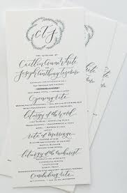 what goes on a wedding program painted wedding details where can i use them brush nib