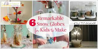 6 remarkable snow globes for to make a in balance by