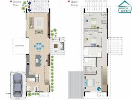 narrow house plan ideas for narrow lot house plans with garage floor cottage luxury