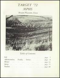 mount pleasant high in wilmington explore 1972 mt pleasant high yearbook mt pleasant ia