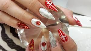 acrylic nails christmas nail design youtube