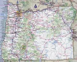 large detailed roads and highways map of oregon state with all