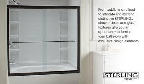 sterling finesse frameless by pass bath shower door