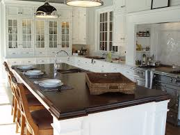 classic white kitchen walnut island countertop brooks custom