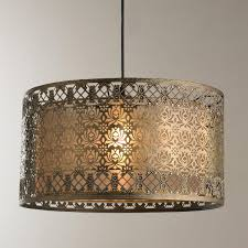 Chandelier Canopy by Filigree Lotus Metal Shade Pendant Filigree Lotus And Ceiling