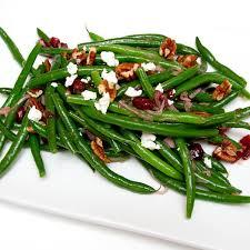 piedmontese com green bean salad with shallot cranberry