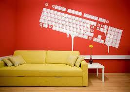 Wall Graphic Idea  Melting Keyboard By Zek Freshomecom - Wall graphic designs